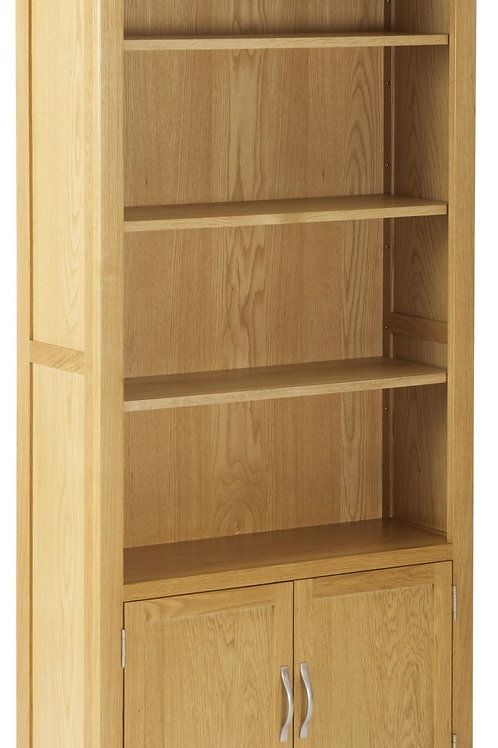 Nordic Oak Bookcase with Doors