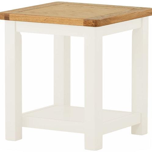 Oban White Lamp Table