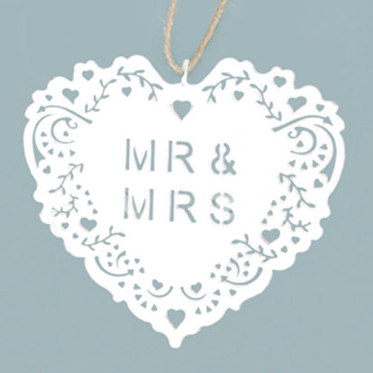 Mr and Mrs Doily Hanging Decoration