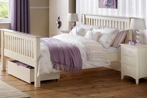 Barcelona White High Foot 4ft6 Bed - Showroom model frame