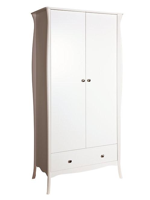 Baroque White 2 Door 1 Drawer Robe