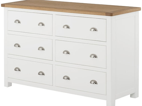 Oban 6 White Drawer Chest