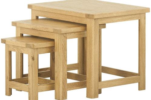 Oban Oak Nest of Tables