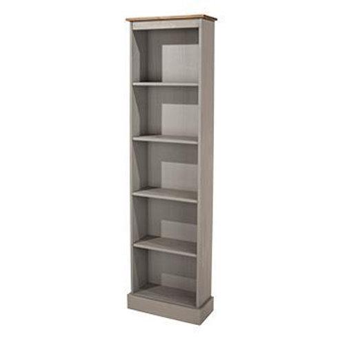 Albany Rustic Grey Tall Narrow Bookcase