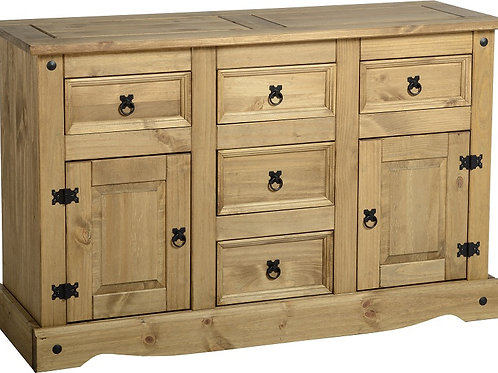 Albany Rustic 2 Door 5 Drawer Sideboard
