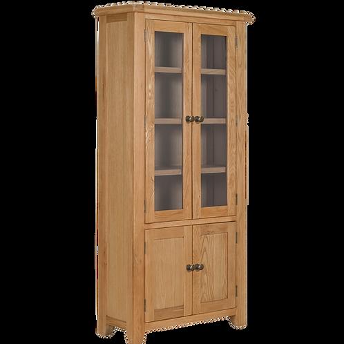 Torino Oak Display Cabinet