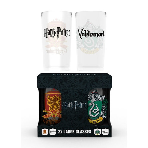 Twin Pack Gryffindor/Slytherin Glasses