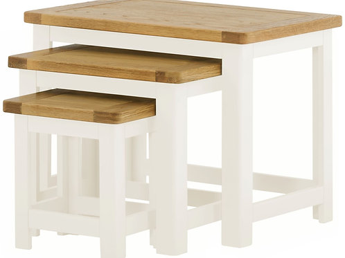 Oban White Nest of Tables