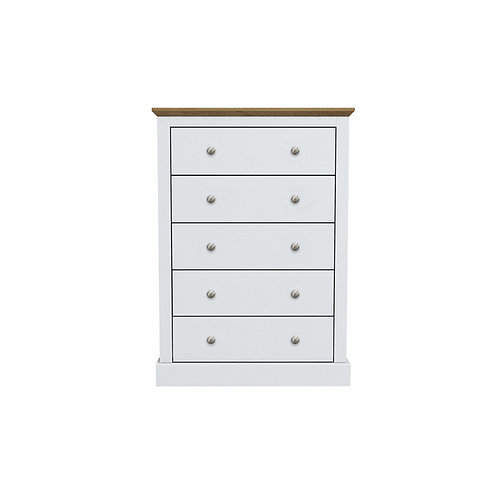 Dartmoor White 5 Drawer Chest
