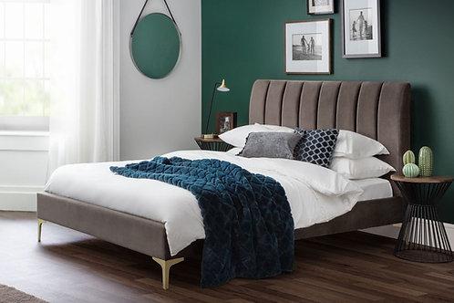 4ft6 Deco Velvet Bedframe