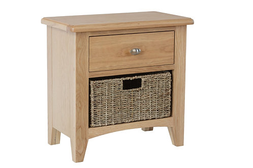 WM Oak 1 Drawer 1 Basket Unit