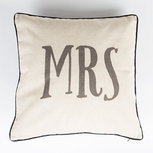Mr and Mrs Rustic Cushion Set