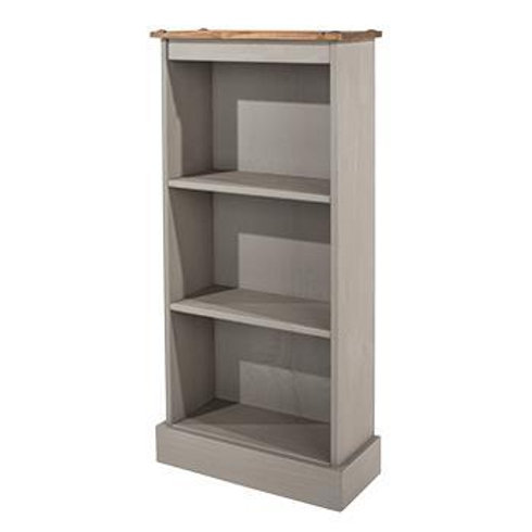 Albany Rustic Grey Low Narrow Bookcase