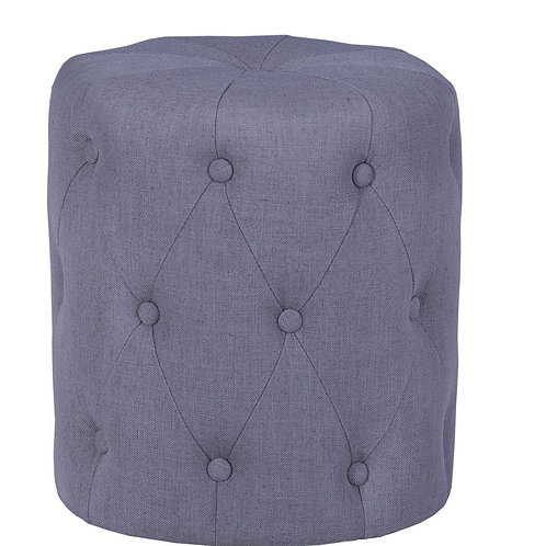 Round Buttoned Upholstered Stool