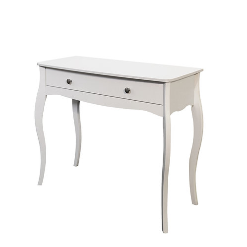 Baroque White Dressing Table - FLATPACK