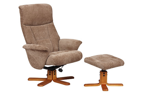 Marseille Swivel Chair and Footstool