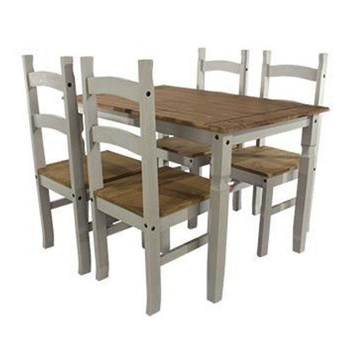 Albany Rustic Grey 118cm Dining Set