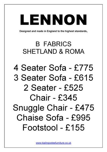 Lennon B Prices