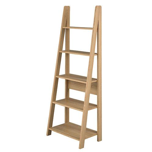 Tiva Ladder Bookcase - Oak Colour