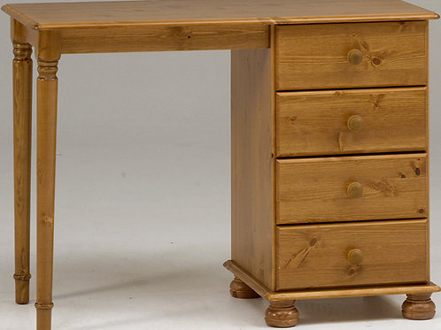 Richmond Pine Single Pedestal Dressing Table