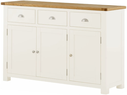 Oban White 3 Door Sideboard