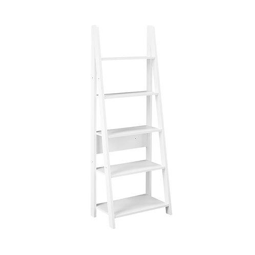 Tiva Ladder Bookcase - White Colour