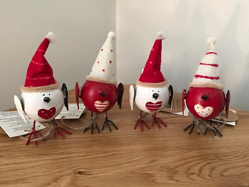 Cheerful Xmas Birdies With Hat