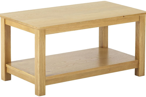Nordic Oak Coffee Table with Shelf