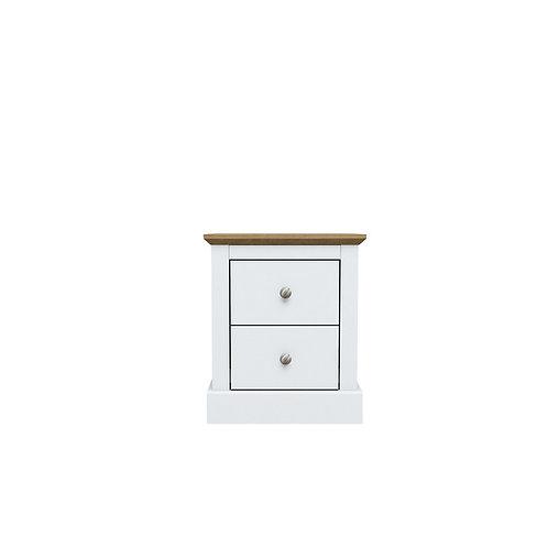 Dartmoor White 2 Drawer Bedside