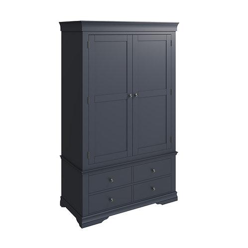 Skipton Midnight Grey 2 Door 4 Drawer Robe