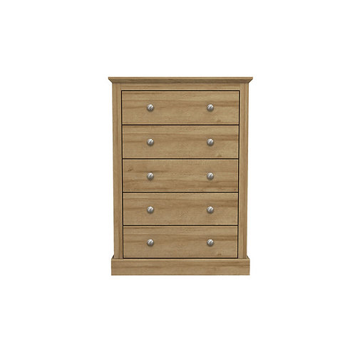 Dartmoor Oak 5 Drawer Chest
