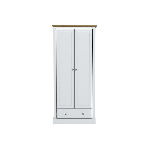 Dartmoor White 2 Door Robe