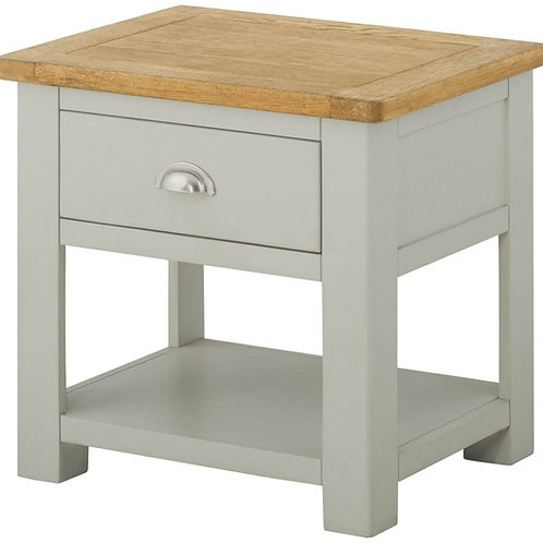 Oban Lamp Table with drawer