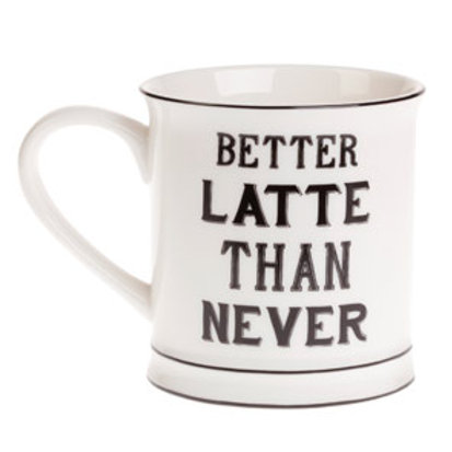 Sass and Belle Better Latte than Never Mug