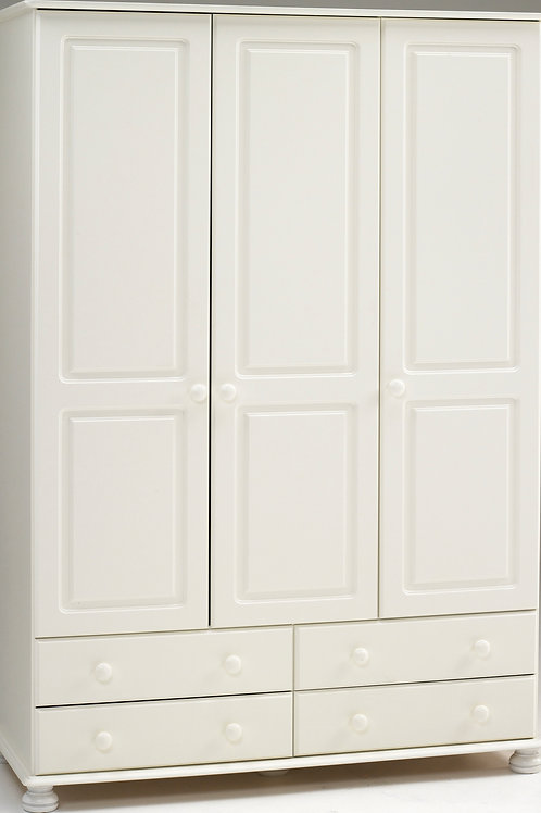 Richmond White 3 Door 4 Drawer Robe