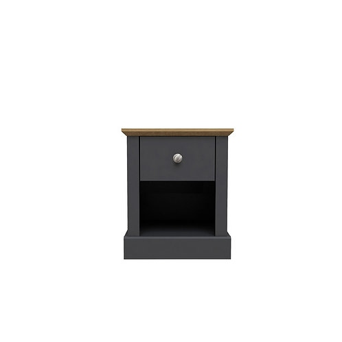 Dartmoor Charcoal 1 Drawer Bedside