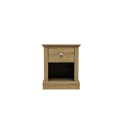 Dartmoor Oak 1 Drawer Bedside