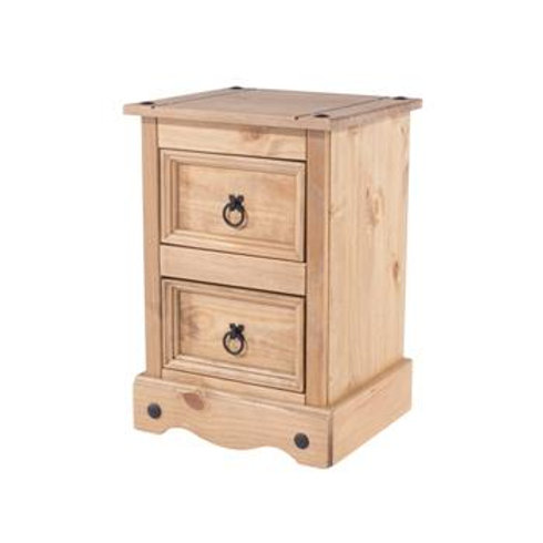 Albany Rustic 2 Drawer  Petite Bedside