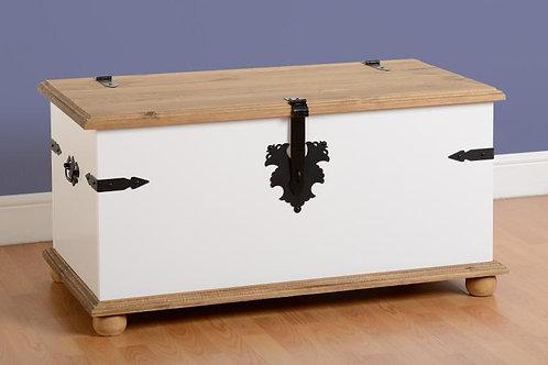 Albany Rustic White Blanket Box
