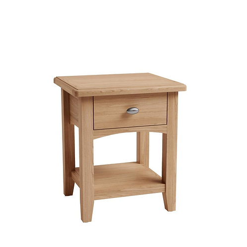 Whitley Oak Lamp Table with Drawer