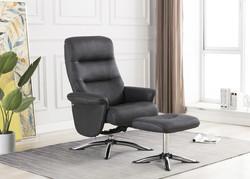 Arizona Swivel Chair and Footstool