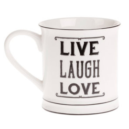 Sass and Belle Live Laugh Love Mug