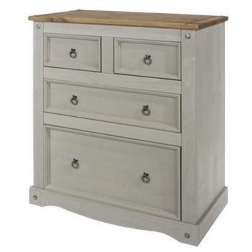 Albany Rustic Grey 2+2 Drawer Chest