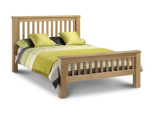 Amsterdam High Foot 4ft6 Oak Bed