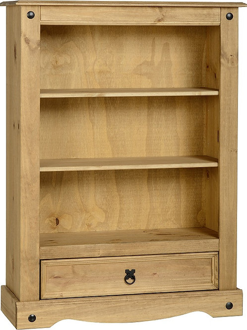 Albany Low Bookcase with Drawer