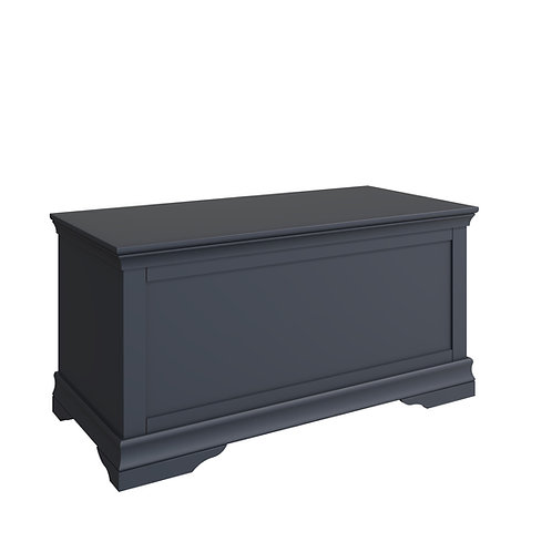 Skipton Midnight Grey Blanket Box