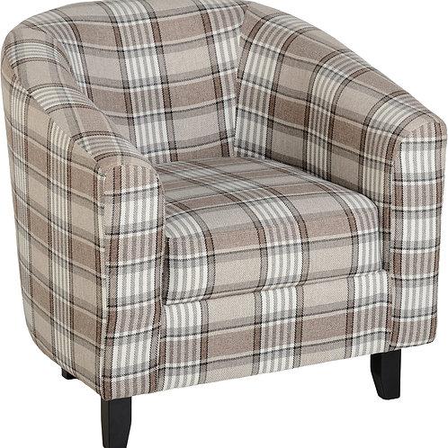 Heritage Tub Chair - Brown Check