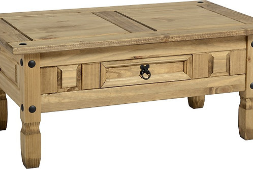 Albany Rustic 1 Drawer Table