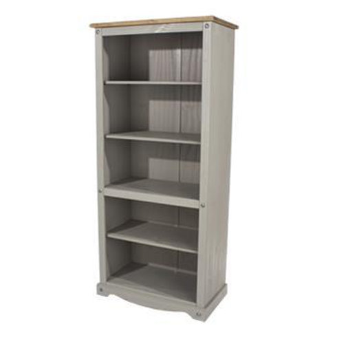 Albany Rustic Grey Tall Bookcase