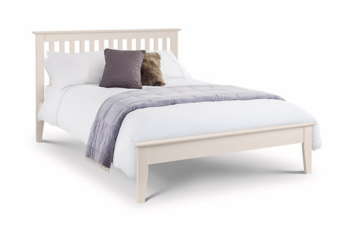 Salerno White Finish 4ft6 Bedframe